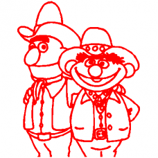 Bert and Earnie decal