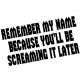 Remember Name car sticker - 934