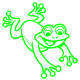 Frog 3 vinyl car decal