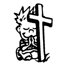 Calvin and Cross 2 Decal