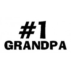 #1 Grandpa Sticker