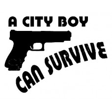 A City Boy Can Survive Sticker