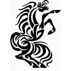 a vinyl horse car or wall decal 07