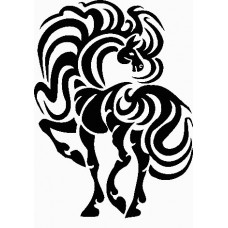 a vinyl horse car or wall decal 10