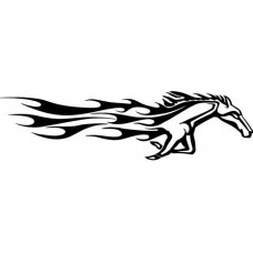 a vinyl horse car or wall decal 17 LEFT