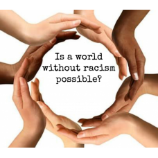 A WORLD WITHOUT RACISM STICKER