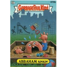 ABRAHAM Sinkin Funny Sticker Name Decal