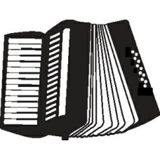 Accordian Diecut Vinyl Decal