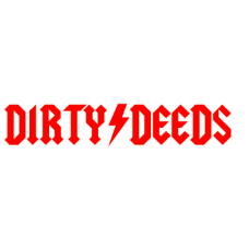 ACDC DIRTY DEEDS tribute band sticker