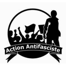 action antifasciste B&W sticker