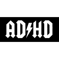 ADHD funny car sticker