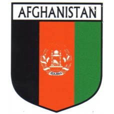 Afghanistan Flag Crest Decal Sticker