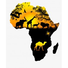 Africa sticker with animals sticker 55