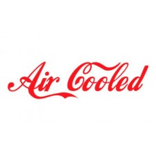 Air Cooled funny auto decal