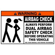 Airbag Check Funny Warning Sticker 1