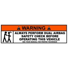 Airbag Check Funny Warning Sticker 2