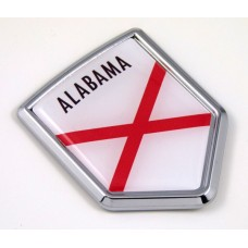 alabama US state flag domed chrome emblem car badge decal