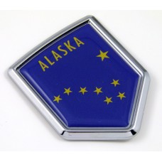 alaska US state flag domed chrome emblem car badge decal