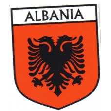 Albania Flag Crest Decal Sticker