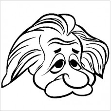 Albert Einstein Cartoon Decal