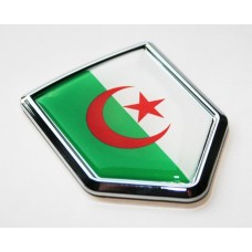 Algeria Algerian Flag Decal Car Chrome Emblem Sticker