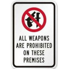 All Weapons Prohibited Decal