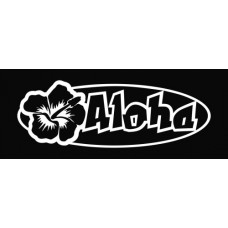 Aloha Hibiscus Flower Die Cut Vinyl Decal Sticker