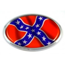 American Rebels Oval  3D Chrome Emblem