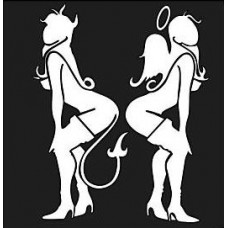 Angel and Devil Standing Decal 1