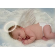 Angel Baby Photo Sticker