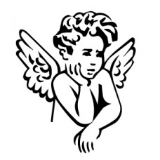 Angel Baby Sticker 1