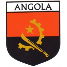 Angola Flag Crest Decal Sticker
