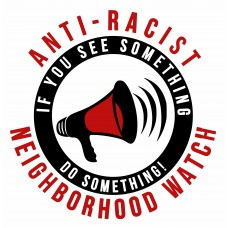 ANIT-RACIST DO SOMETHING round sticker