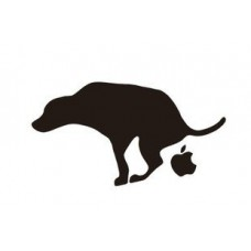 Anti Apple Skateboard Sticker