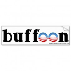 Anti Obama Bumper Sticker buffoon