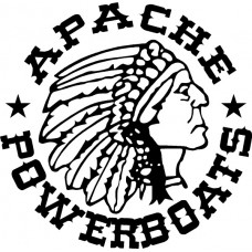 Apache Powerboats Decal Die Cut Sticker 04