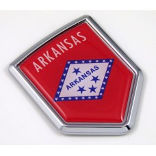 arkansas US state flag domed chrome emblem car badge decal
