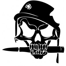 Army Skull With Helmet Sticker