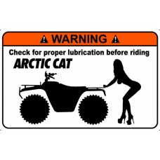 Artic Cat Funny Warning Stickers 1