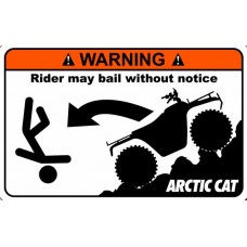 Artic Cat Funny Warning Stickers 2