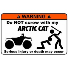 Artic Cat Funny Warning Stickers 4
