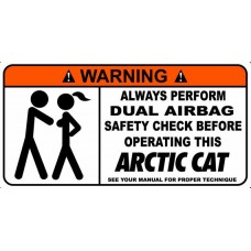 Artic Cat Funny Warning Stickers 5