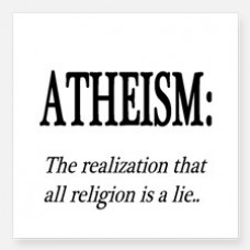 atheism_shirt_square_free thnking sticker