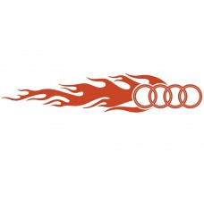 Audi Auto Flame Side Graphics (Pair)