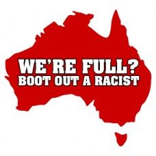 australia boot out racist sticker