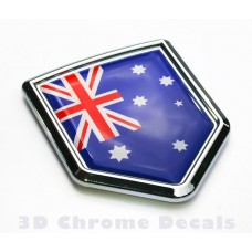 Australia Flag Crest Car Chrome Emblem 3D Decal Sticker
