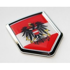 Austria Austrian Flag Crest Decal Car Chrome Emblem Sticker