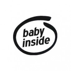 Baby Inside Vinyl Decal Sticker