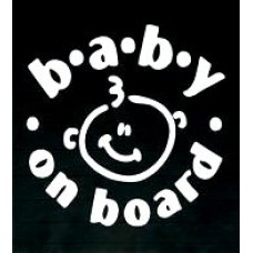 baby on board die cut decal 3