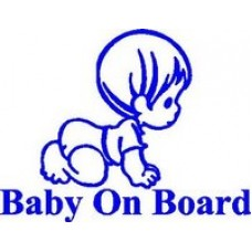 Baby on Board Die Cut Vinyl Decal